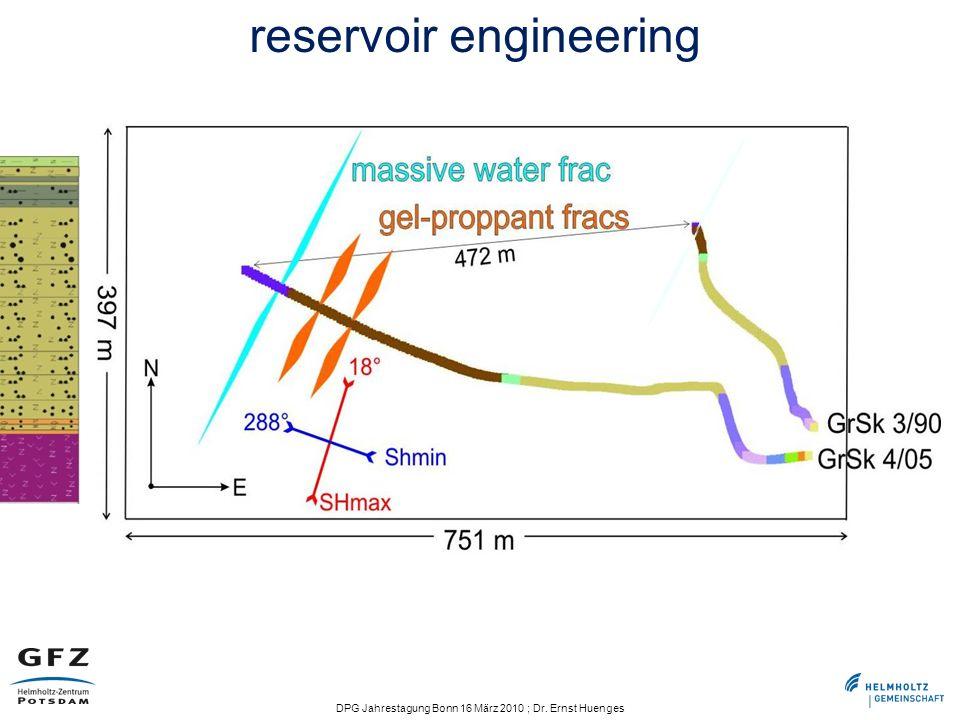 DPG Jahrestagung Bonn 16 März 2010 ; Dr. Ernst Huenges reservoir engineering