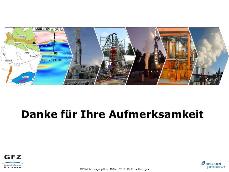 DPG Jahrestagung Bonn 16 März 2010 ; Dr. Ernst Huenges Danke für Ihre Aufmerksamkeit