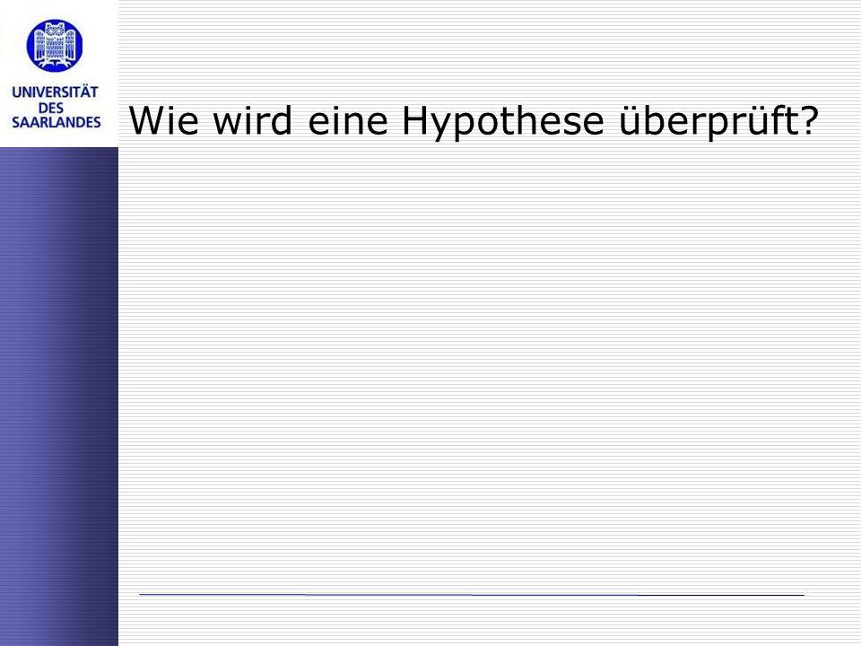 Wie wird eine Hypothese überprüft?