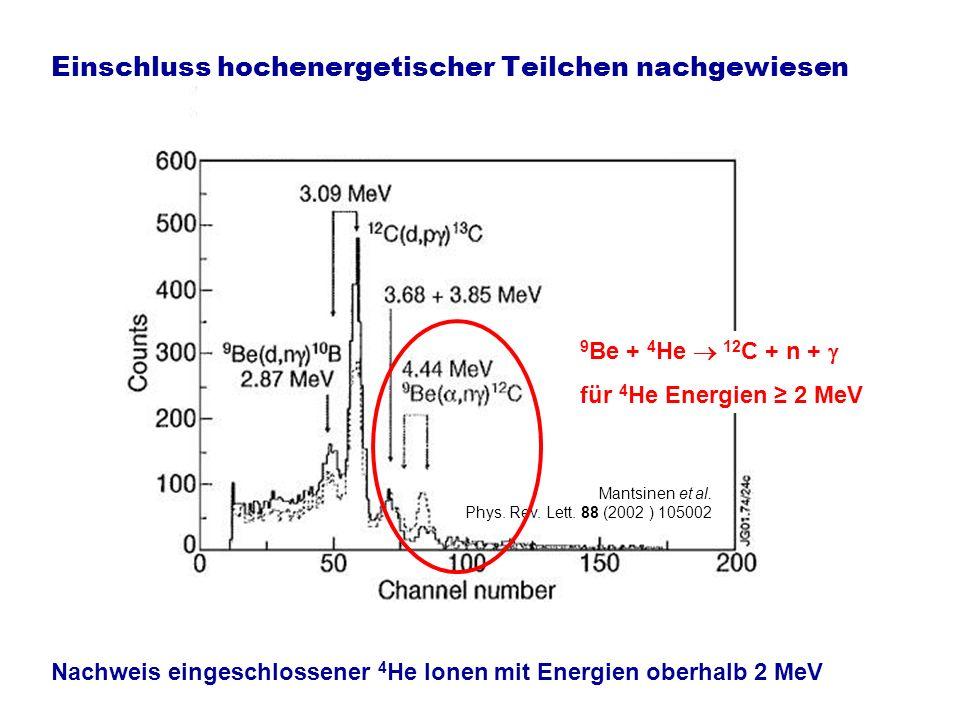 Bis zu 16 MW Fusionsleistung in ersten D-T Experimenten Gibson et al.