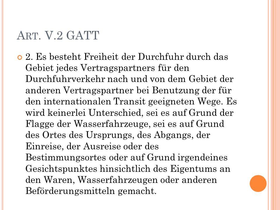 A RT. V.2 GATT 2.