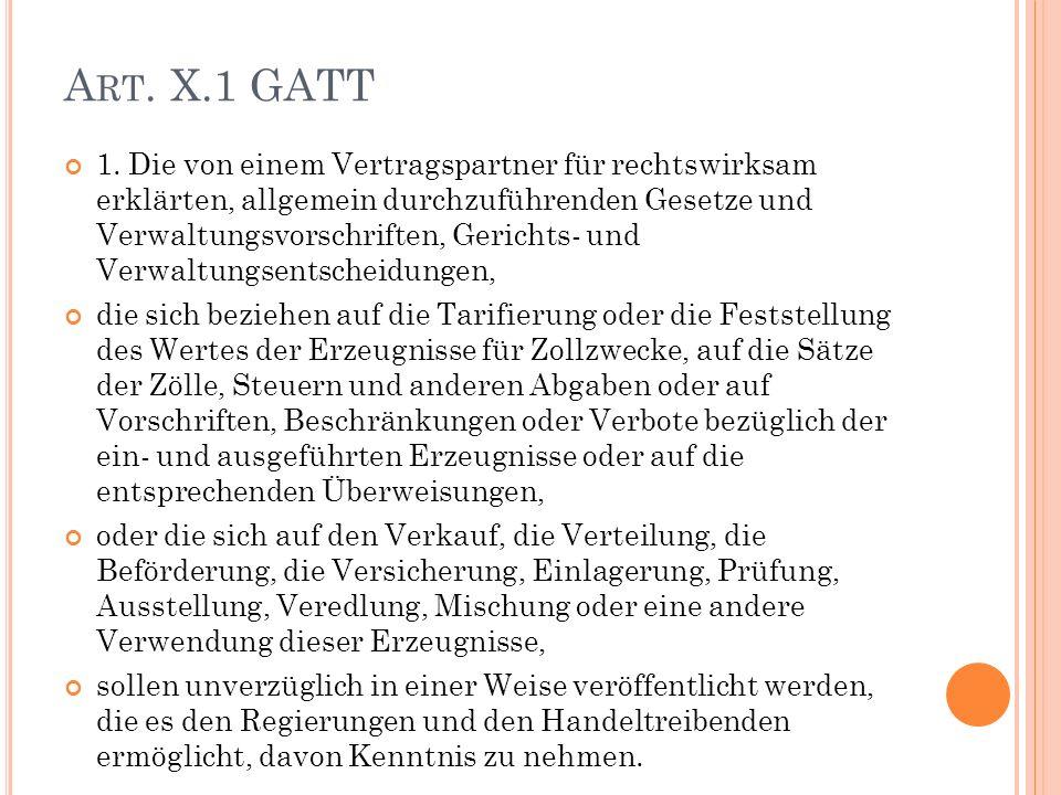 A RT. X.1 GATT 1.