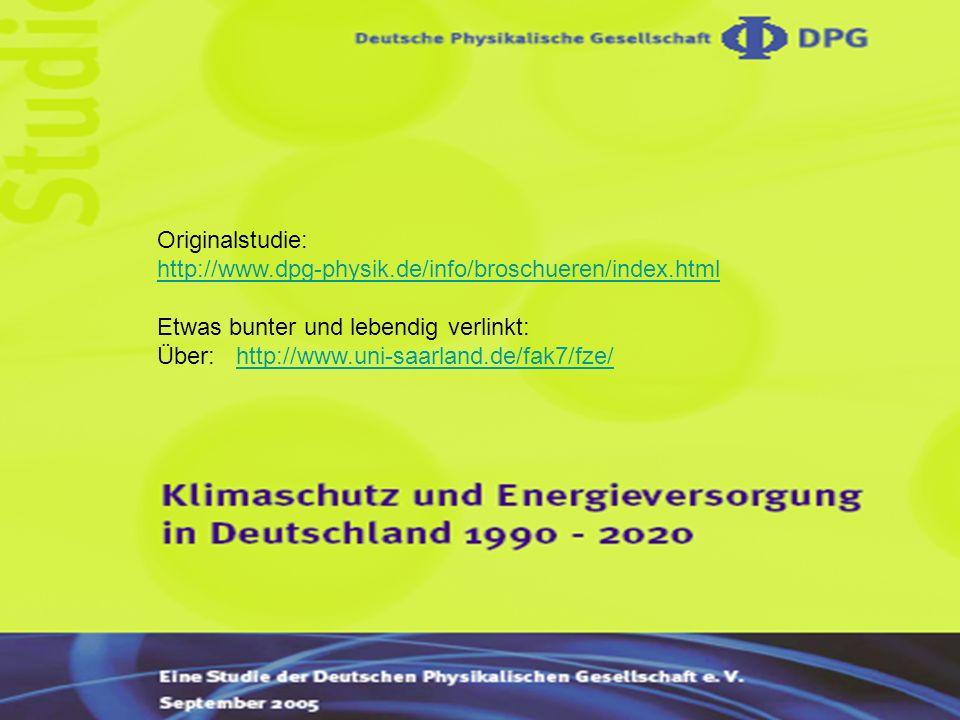 Originalstudie: http://www.dpg-physik.de/info/broschueren/index.html Etwas bunter und lebendig verlinkt: Über: http://www.uni-saarland.de/fak7/fze/http://www.uni-saarland.de/fak7/fze/