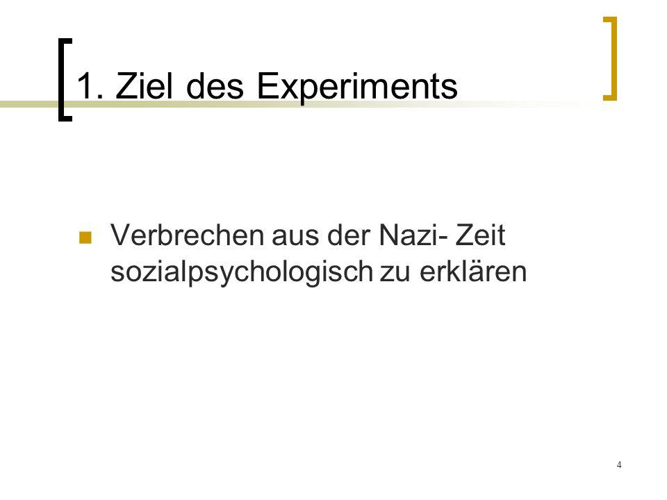 25 Experiment 3 Der Schüler befindet sich im selben Raum 40% Gehorsame
