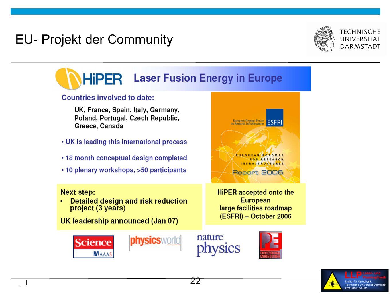 22 | | EU- Projekt der Community