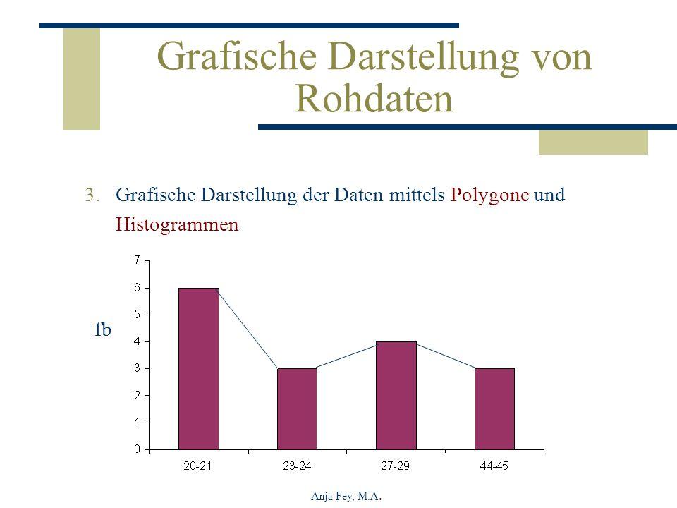 Anja Fey, M.A. Grafische Darstellung von Rohdaten 3.Grafische Darstellung der Daten mittels Polygone und Histogrammen fb