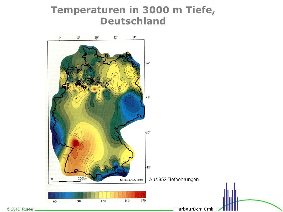 © 2010/ Rueter Temperaturen in 3000 m Tiefe, Deutschland Aus 852 Tiefbohrungen