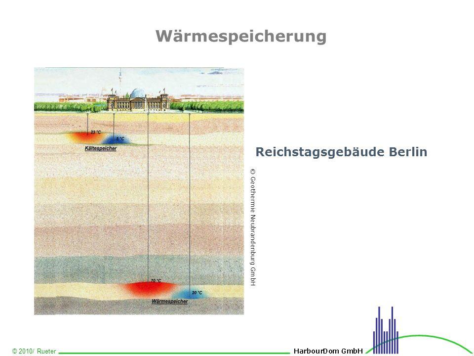 © 2010/ Rueter Wärmespeicherung Reichstagsgebäude Berlin © Geothermie Neubrandenburg GmbH