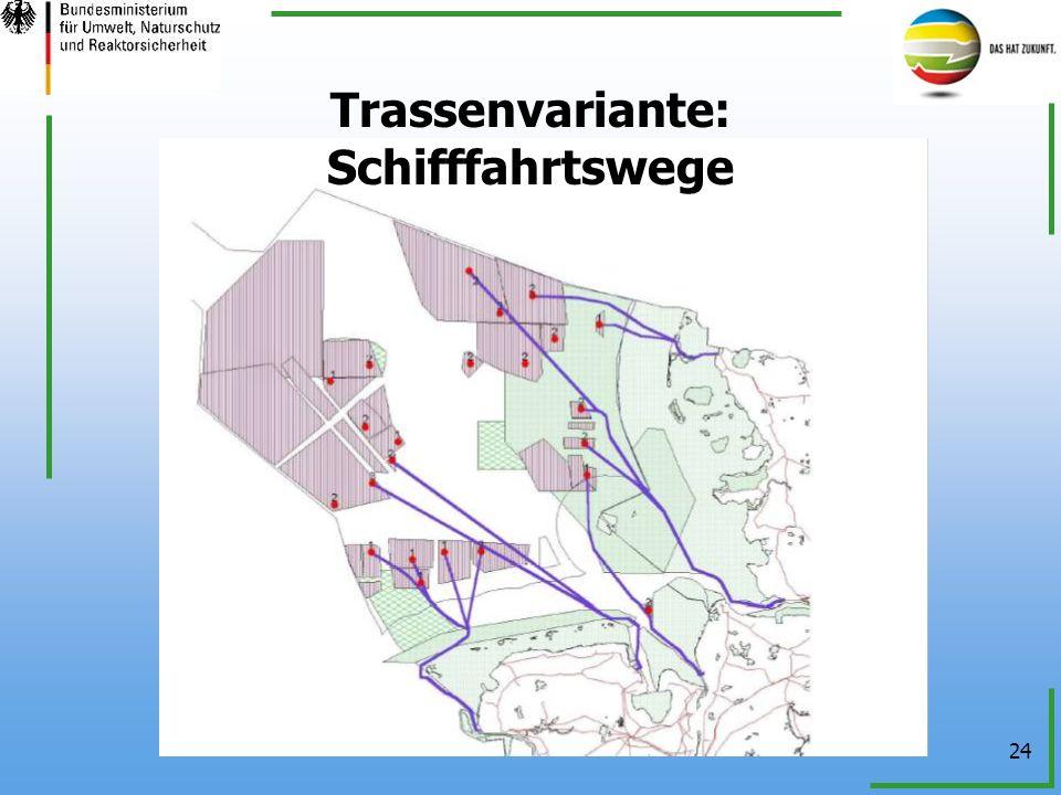 24 Trassenvariante: Schifffahrtswege