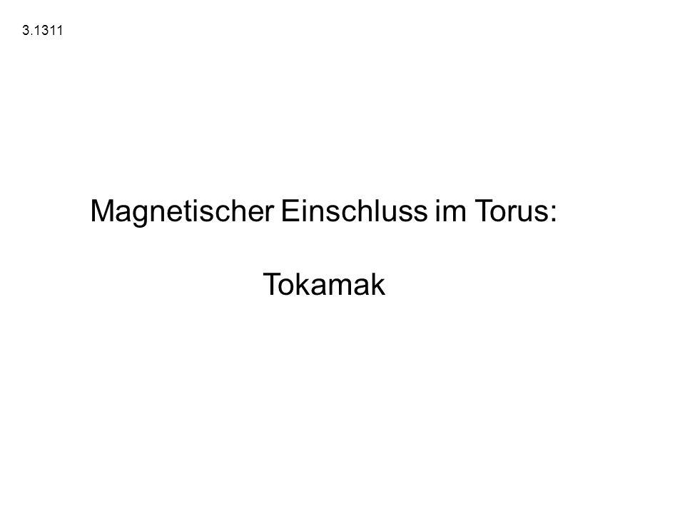 Magnetischer Einschluss im Torus: Tokamak 3.1311