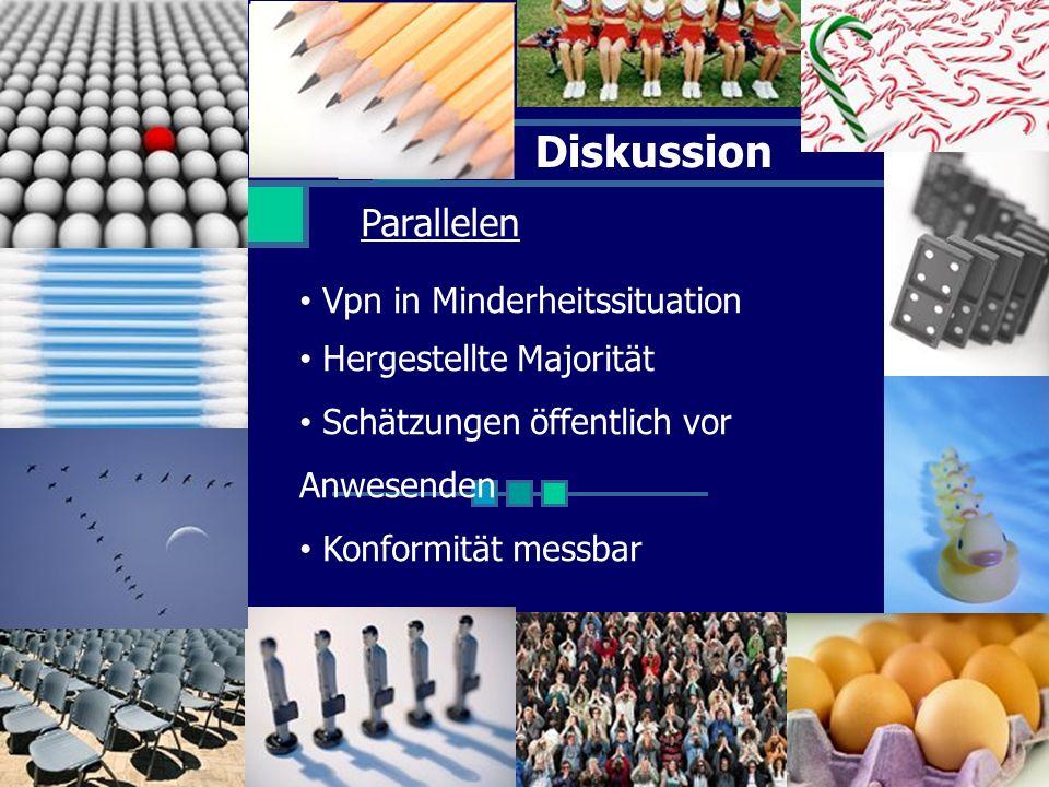 Diskussion Parallelen Vpn in Minderheitssituation Hergestellte Majorität Schätzungen öffentlich vor Anwesenden Konformität messbar