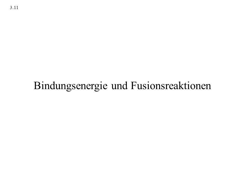 Bindungsenergie pro Nukleon Quelle: /Taube 1988 : Materie, Energie..,; Hirzel Verlag; Abb.