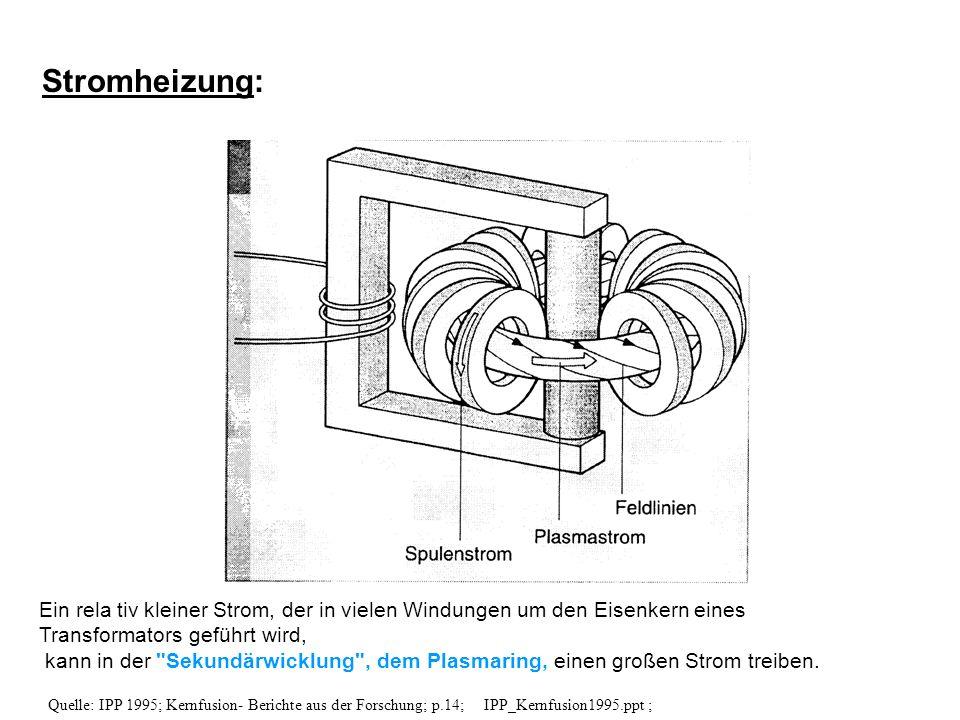 Ein rela tiv kleiner Strom, der in vielen Windungen um den Eisenkern eines Transformators geführt wird, kann in der