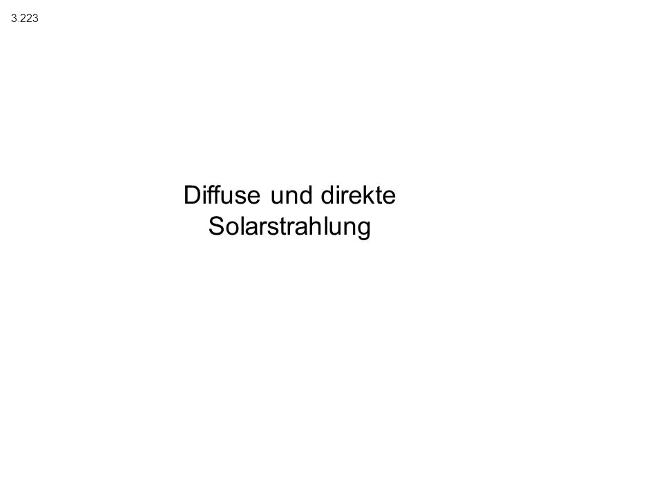 Diffuse und direkte Solarstrahlung 3.223