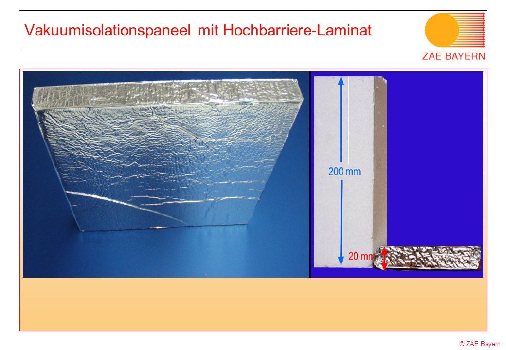 © ZAE Bayern Vakuumisolationspaneel mit Hochbarriere-Laminat