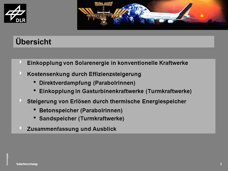 Solarforschung: Quellenangabe 13 Konzept Rezirkulation.