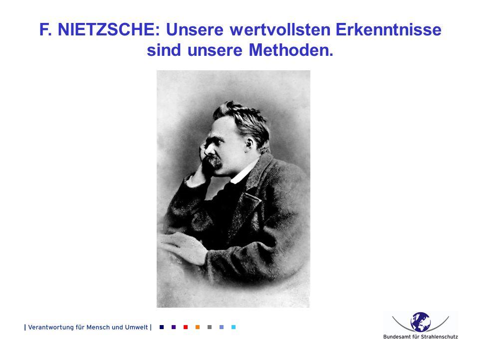 F. NIETZSCHE: Unsere wertvollsten Erkenntnisse sind unsere Methoden.