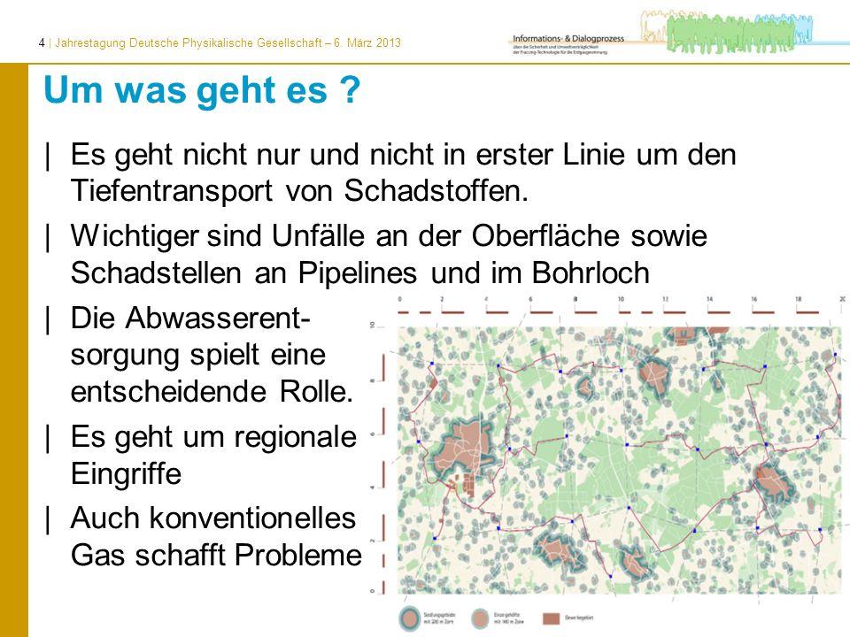 4 | Jahrestagung Deutsche Physikalische Gesellschaft – 6. März 2013 Um was geht es ? | Es geht nicht nur und nicht in erster Linie um den Tiefentransp