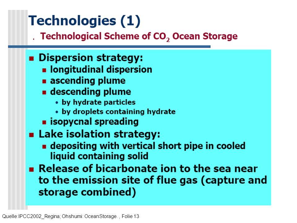 Quelle:IPCC2002_Regina; Ohshumi: OceanStorage., Folie 13