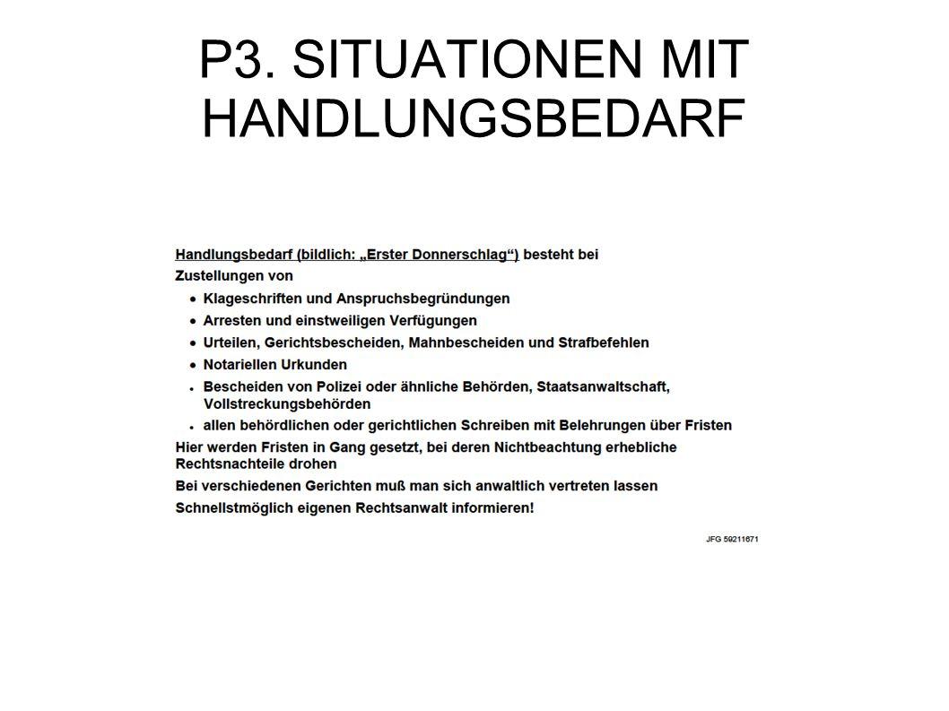 P3. SITUATIONEN MIT HANDLUNGSBEDARF