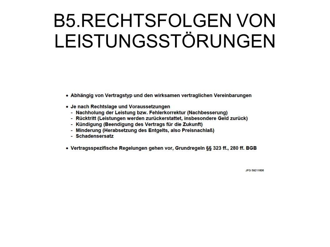 B5.RECHTSFOLGEN VON LEISTUNGSSTÖRUNGEN