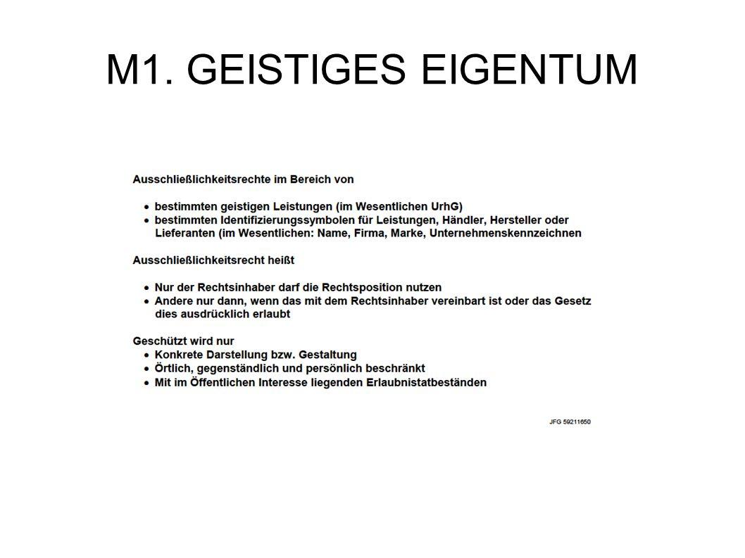 M1. GEISTIGES EIGENTUM