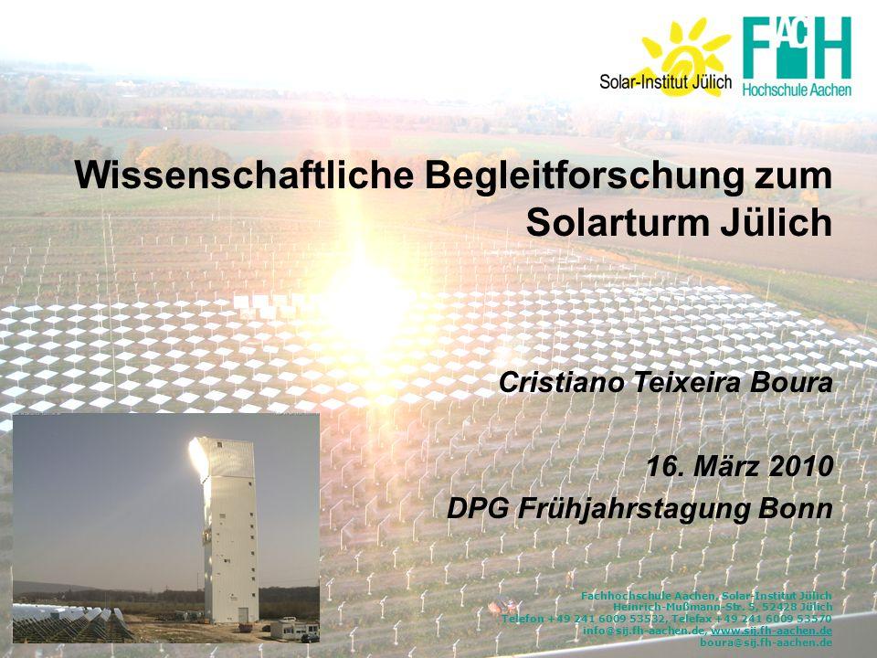 Fachhochschule Aachen, Solar-Institut Jülich Heinrich-Mußmann-Str. 5, 52428 Jülich Telefon +49 241 6009 53532, Telefax +49 241 6009 53570 info@sij.fh-