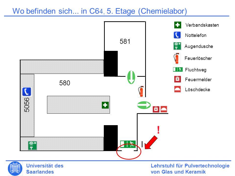 Lehrstuhl für Pulvertechnologie von Glas und Keramik Universität des Saarlandes 6.