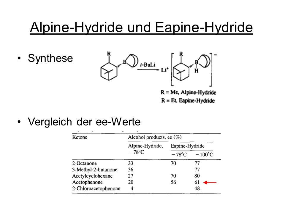 Alpine-Hydride und Eapine-Hydride Synthese Vergleich der ee-Werte