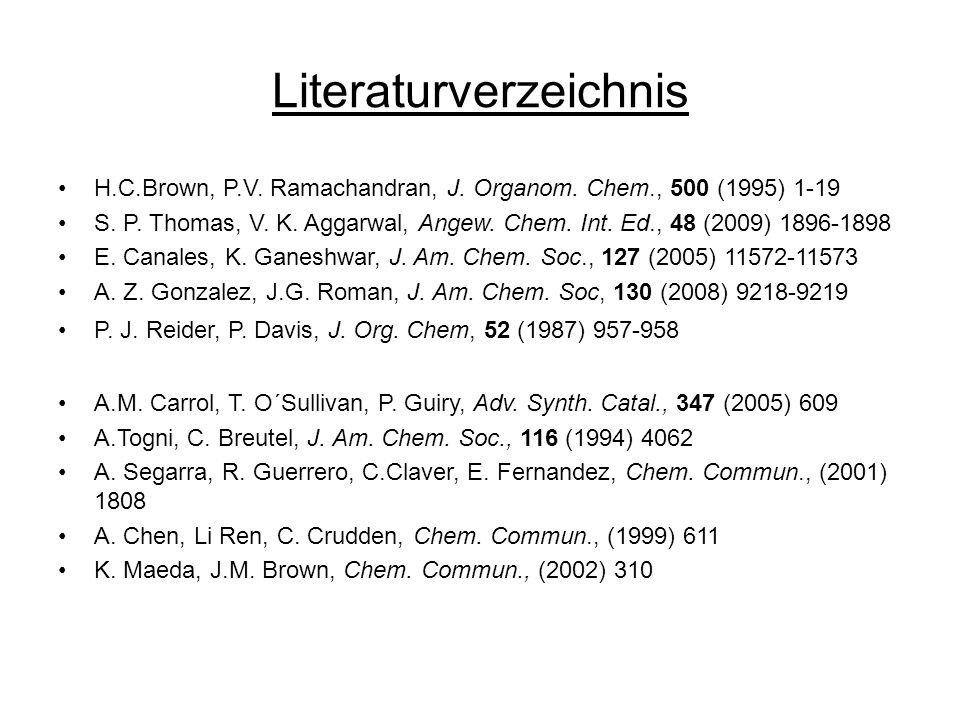 Literaturverzeichnis H.C.Brown, P.V.Ramachandran, J.