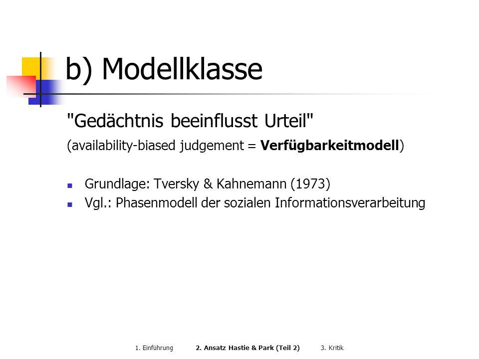 b) Modellklasse