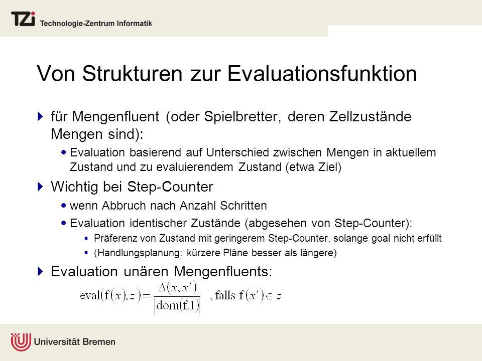 Von Strukturen zur Evaluationsfunktion für Mengenfluent (oder Spielbretter, deren Zellzustände Mengen sind): Evaluation basierend auf Unterschied zwis