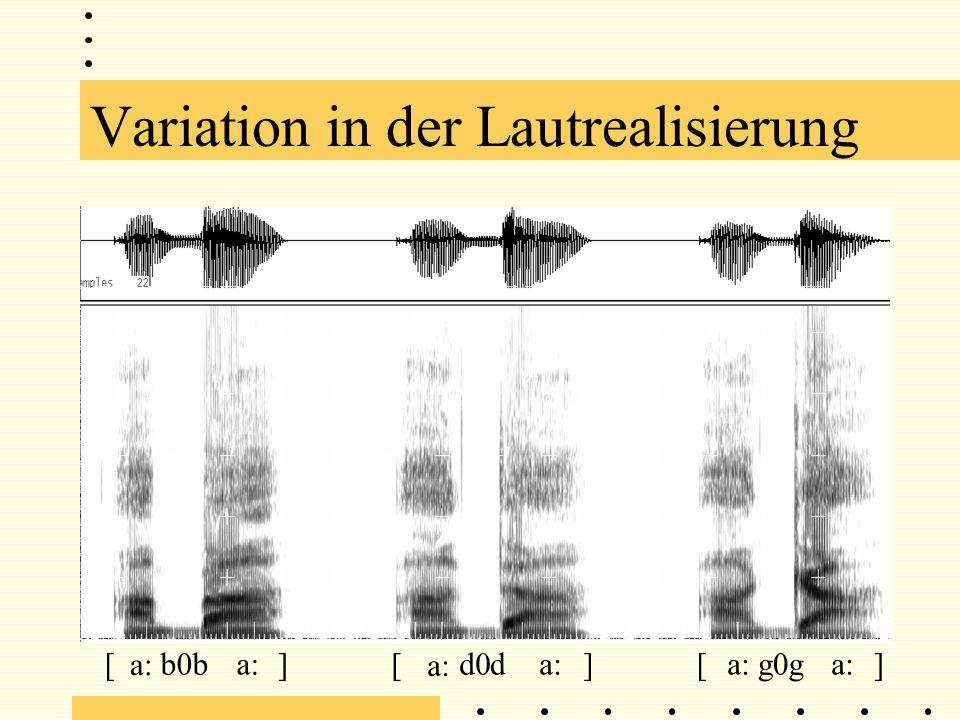Variation in der Lautrealisierung a: b0dg[][[]]d0g0b