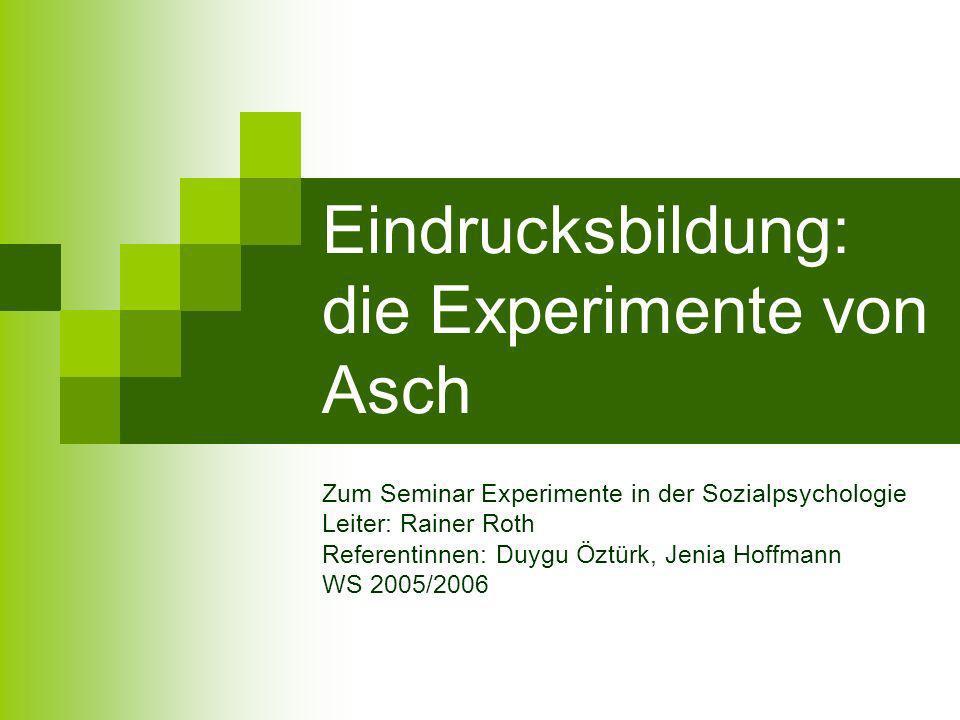PS Sozialpsychologie, Duygu Öztürk, Jenia Hoffmann, 20.01.2006 Zusammenfassung Auf alltägliche Eindrucksbildung übertragen heißt das, dass dem sog.