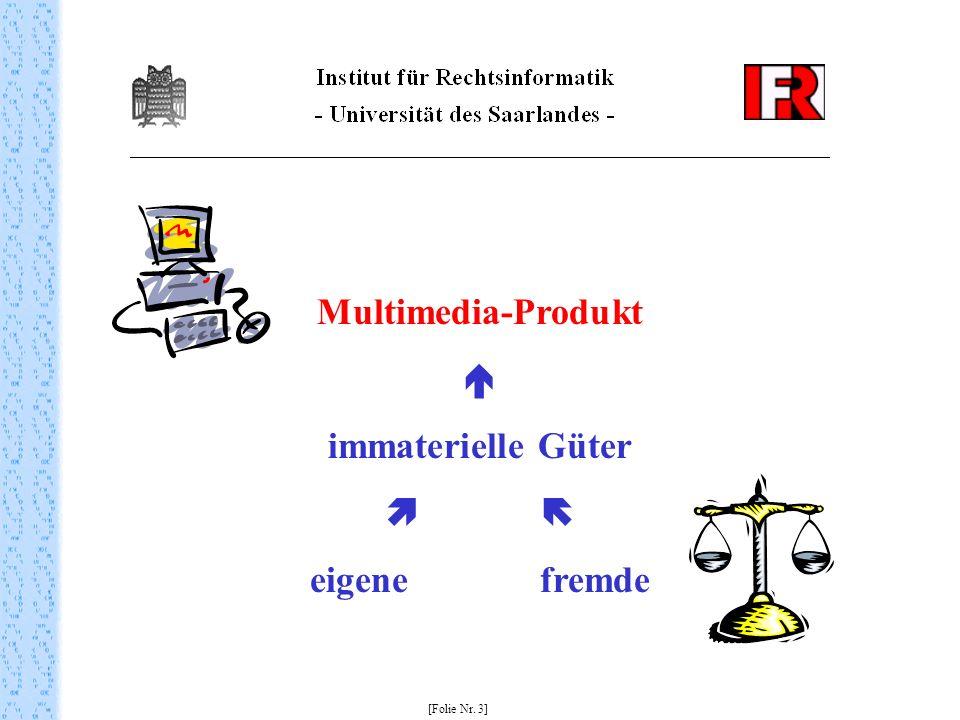 [Folie Nr. 3] Multimedia-Produkt immaterielle Güter eigene fremde