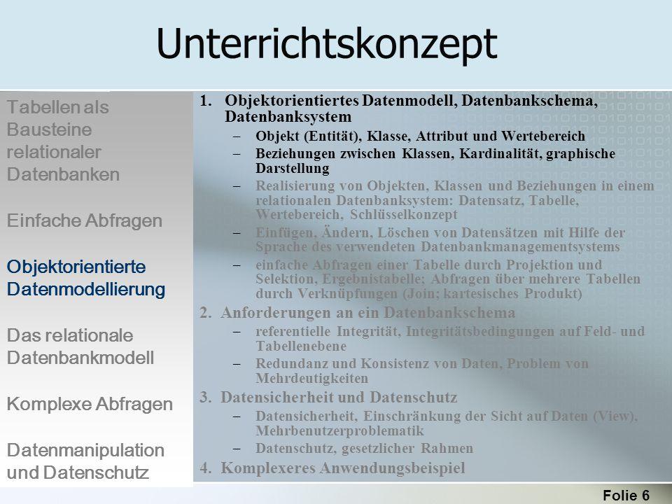 Folie 47 Die gesuchten Informationen sind in zwei Tabellen enthalten.