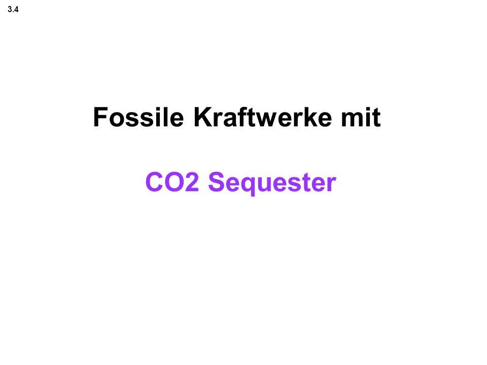 Fossile Kraftwerke mit CO2 Sequester 3.4