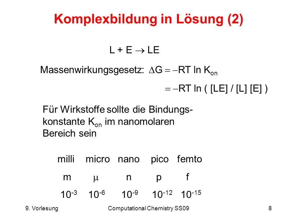 9.VorlesungComputational Chemistry SS0929 Poisson-Boltzmann Gleichung (9) pK a Berechnung (z.B.