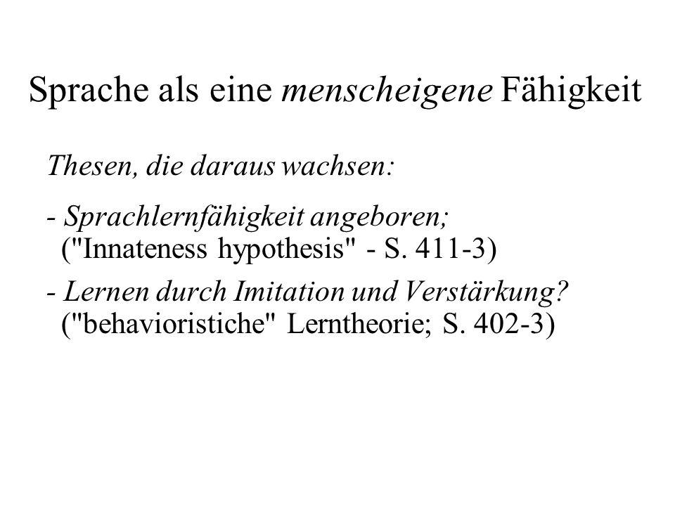 Die Sprachwissenschaft … … hat als Ziel die Erstellung von deskriptiven Grammatiken, d.h.