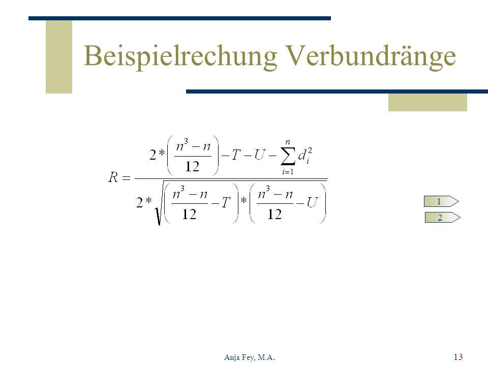 Anja Fey, M.A.13 Beispielrechung Verbundränge 1 2