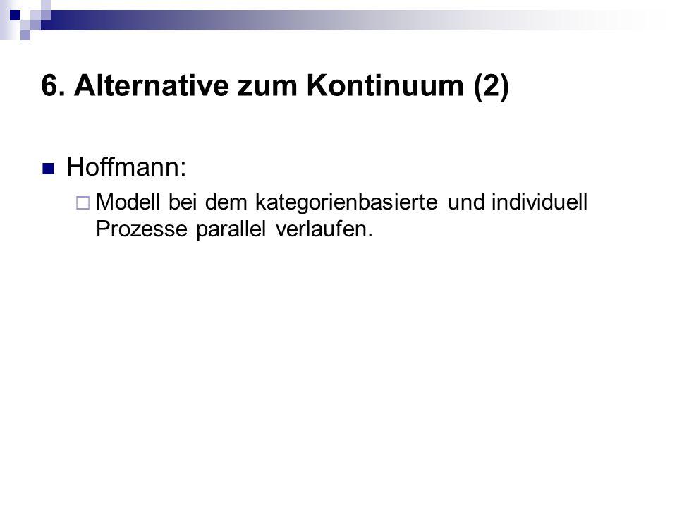 6. Alternative zum Kontinuum (2) Hoffmann: Modell bei dem kategorienbasierte und individuell Prozesse parallel verlaufen.