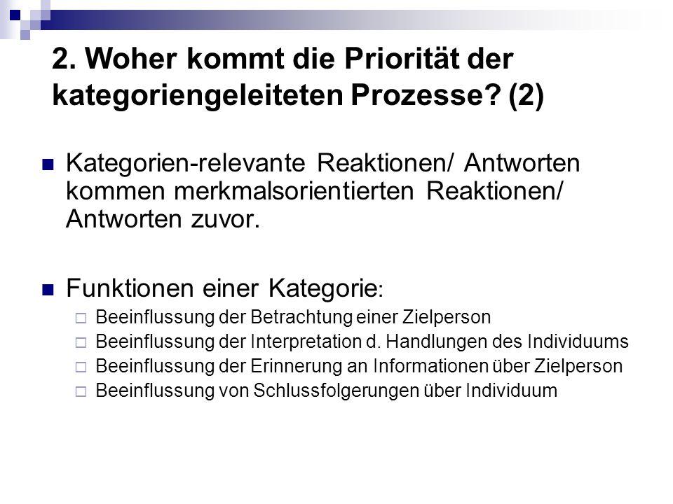 2.Woher kommt die Priorität der kategoriengeleiteten Prozesse.
