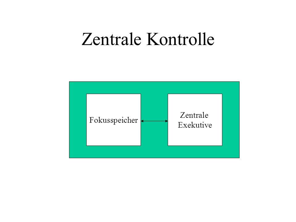 Zentrale Kontrolle Fokusspeicher Zentrale Exekutive