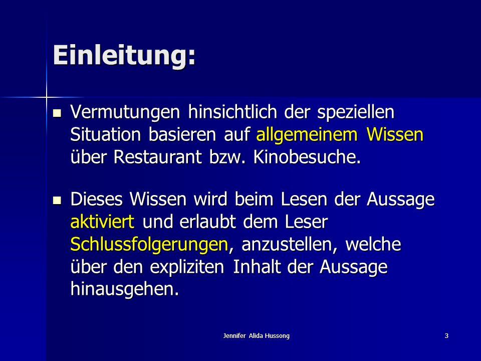 Jennifer Alida Hussong44 Die Veränderung von Schemata: Assimilation: Anpassung der neuen Daten an das Schema.