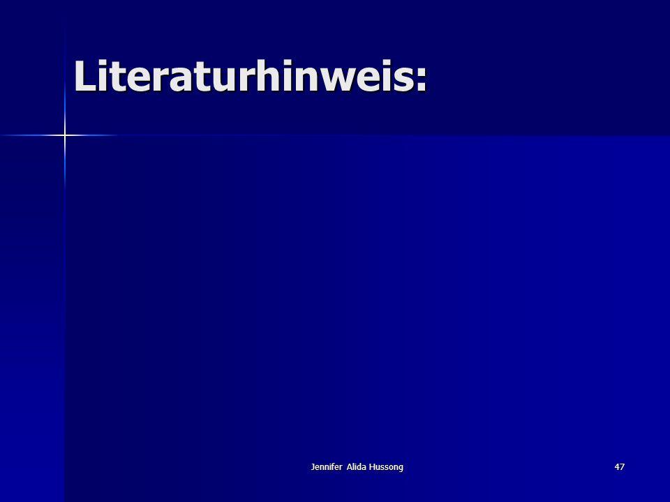Jennifer Alida Hussong47 Literaturhinweis: