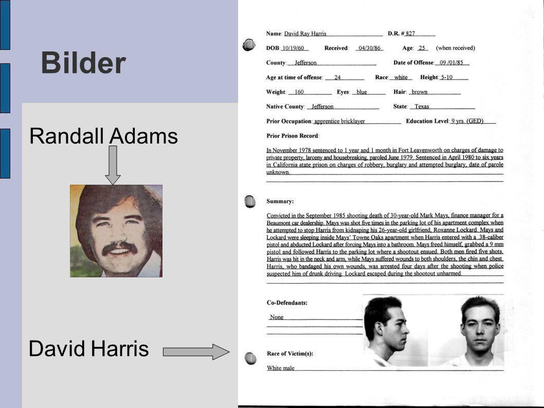 Randall Adams Bilder David Harris
