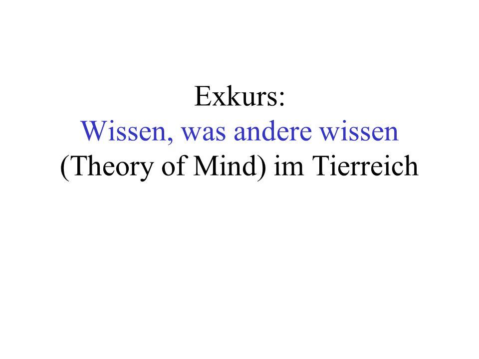 Exkurs: Wissen, was andere wissen (Theory of Mind) im Tierreich
