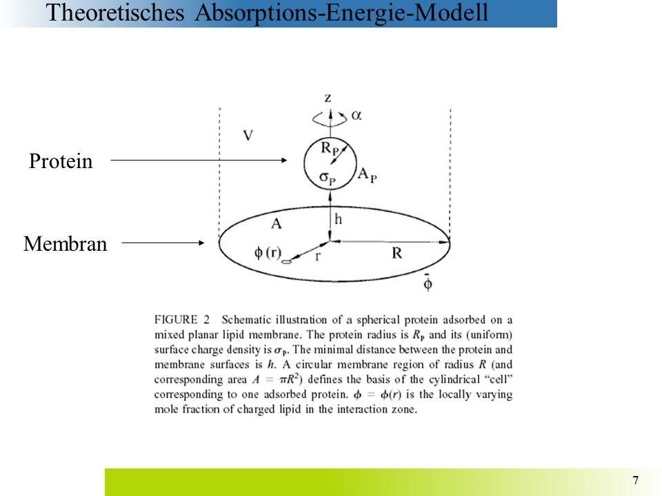 18 Geringe Ladungs-Regulierung bei ø p = ǿ = 0.2 Stärker geladene Proteine führen zu einer ausgeprägteren Ladungs- Regulierung, besonders bei großen Abständen zwischen den Proteinen (R = 60 Å)