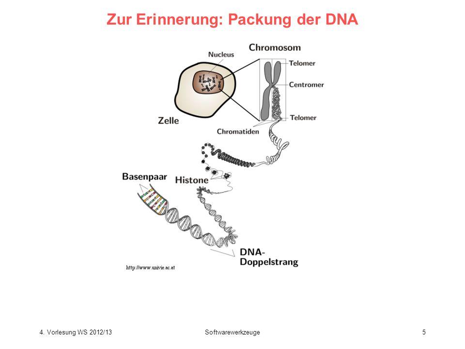 Softwarewerkzeuge5 Zur Erinnerung: Packung der DNA 4. Vorlesung WS 2012/13