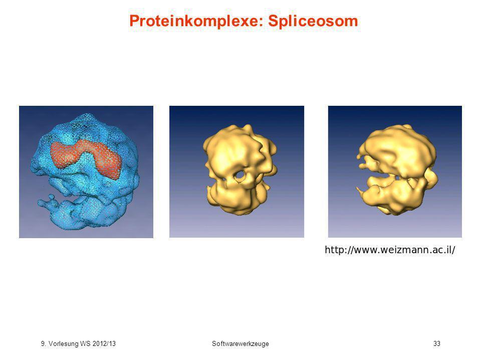 9. Vorlesung WS 2012/13Softwarewerkzeuge33 Proteinkomplexe: Spliceosom